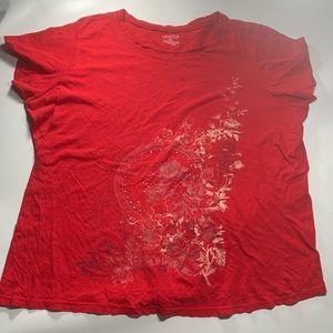 Venezia   Red Short Sleeve Top 22/24